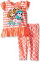 Nickelodeon Little Girls 2 Piece Paw Patrol Top and Legging Set