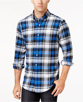 John Ashford Men's Big and Tall Long-Sleeve Plaid Shirt, Only at Macy's