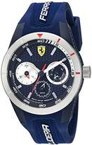 Ferrari Men's 'RedRevT' Quartz Stainless Steel and Rubber Casual Watch, Color:Blue (Model: 830436)