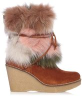 Mr & Mrs Italy Fox Fur Wedge Boot