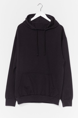 Nasty Gal Womens Plus Hoodie - Black - L