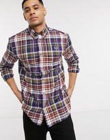 Fred Perry plaid check shirt in navy