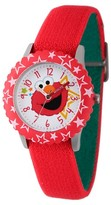 Sesame Street Stainless Steel Time Teacher Watch - Red