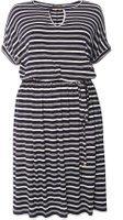 Dorothy Perkins Womens DP Curve Plus Size Navy Jersey Bar Midi Dress- Blue