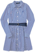 Polo Ralph Lauren Yarn-Dyed Bengal Stripe Dress (Big Kids)