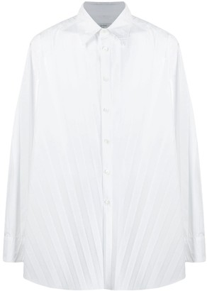 Valentino long-sleeve pleated shirt