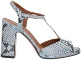 L'Autre Chose Lautre Chose LAutre Chose Python Sandals With T-strap