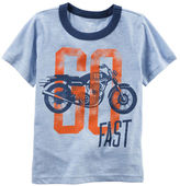 Carter's Motorcycle Graphic Ringer Tee
