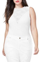 Rachel Roy Plus Size Women's Lace Bodysuit
