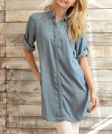 Paparazzi Denim Crosshatch Shirt Dress