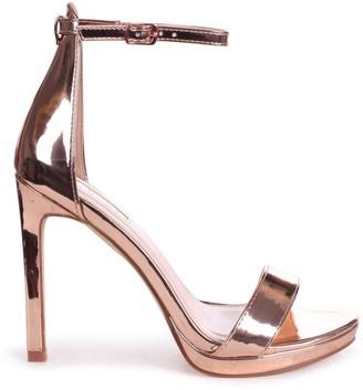 Barely There Linzi GABRIELLA - Rose Gold Stiletto Heel With Slight Platform