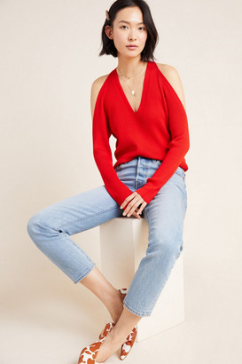 Anthropologie Fontaine Open-Shoulder Sweater