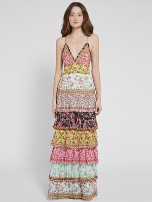 Alice + Olivia Imogene Tier Ruffle Maxi Dress