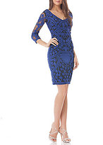 JS Collections V-Neck Soutache Sheath Dress