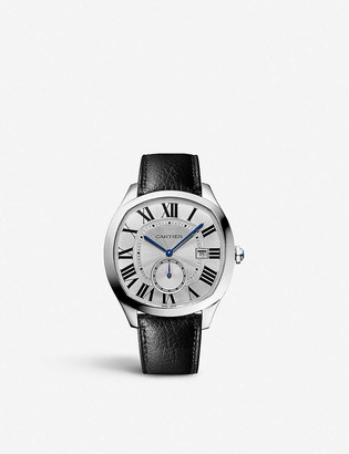 Cartier Drive de stainless steel and leather watch