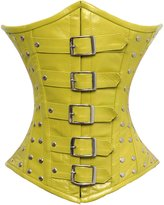 Luvsecretlingerie Full Steel Boned Genuine Leather Underbust Shaper Corset