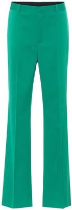 Balenciaga High-rise stretch-wool straight pants
