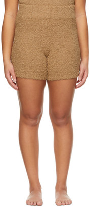 SKIMS Brown Knit Cozy Shorts