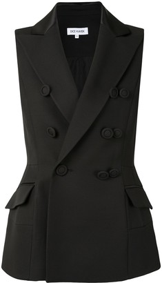 Dice Kayek Double-Breasted Longline Waistcoat