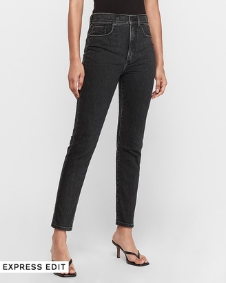 Express Super High Waisted Original Black Slim Ankle Jeans
