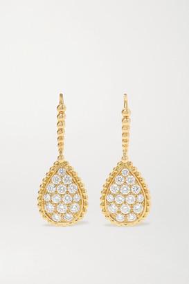 Boucheron Sleepers Serpent Boheme 18-karat Gold Diamond Earrings
