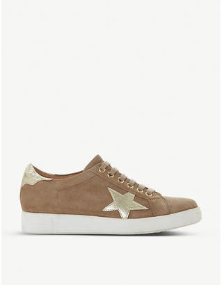 Dune Edris studded star suede trainers