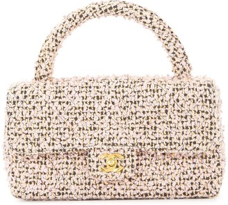 Chanel Pre Owned 1994-1996 Quilted CC Logos Hand Bag