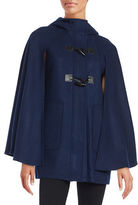 BCBGeneration Hooded Toggle-Button Caped Coat