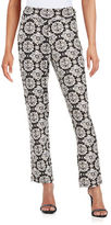 Context Printed Knit Ankle Pants