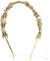 LELET NY - Crawl Gold-plated Swarovski Crystal Headband - One size