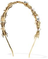LELET NY - Crawl Gold-plated Swarovski Crystal Headband - One size