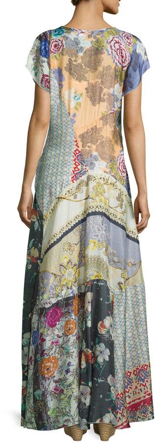 Johnny Was Dolce Vivo Patch Maxi Dress, Multi Colors, Petite