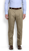 Classic Men's Pleat Front Tailored Fit No Iron Twill Dress Pants-Iron Heather