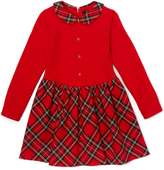 E-Land Kids Red & Green Plaid Dress - Toddler & Girls