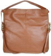 Badgley Mischka Zoe Leather Studded Hobo Bag
