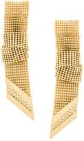 Lanvin ribbon chain earrings