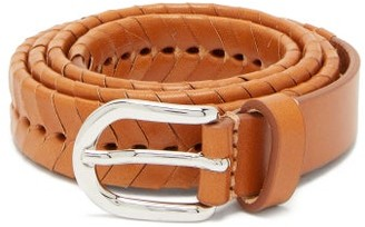 Isabel Marant Pagoo Braided Leather Belt - Tan