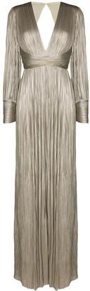 Maria Lucia Hohan Smaranda pleated silk gown