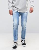 Asos Skinny Jeans In Light Blue Wash