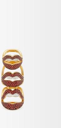 Lynn Ban - Menage A Trois Lab-sapphire & Gold-vermeil Ring - Red