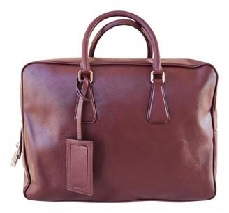 Prada Burgundy Leather Travel bags