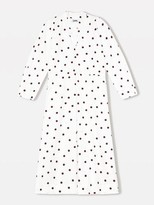 Ganni Printed Cotton Poplin Midi Dress Egret - 34