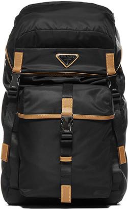 Prada Leather-details Nylon Backpack