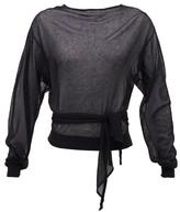 Lemaire Tie-waist Wrap Sweater - Womens - Black