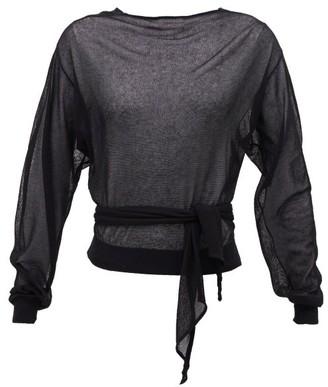 Lemaire Tie-waist Wrap Sweater - Black