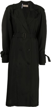 Maison Flaneur Loose-Fit Belted Trench