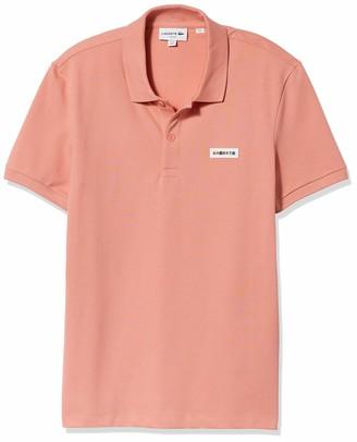 Lacoste Men's Short Sleeve Rainbow Block Logo Slim Fit Polo Shirt