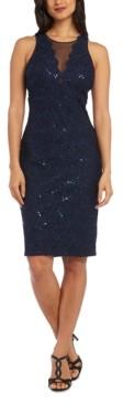 Night Way Nightway Petite Illusion Lace Bodycon Dress