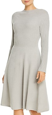 525 America Fit-and-Flare Sweater Dress