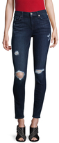 7 For All Mankind Mid-Rise Cotton Skinny Jeans